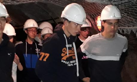 Schüler am Wochenende im Bergwerk Peißenberg